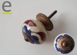 pomelli di ceramica, pomello colorato, pomelli colorati, pomelli shabby chic, pomelli cucina, pomelli per cucina