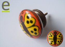pomello in ceramica, pomelli colorati, pomelli per cucina, pomelli shabby chic