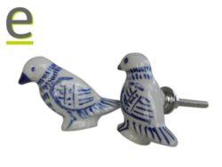 pomello uccellino, pomello di ceramica