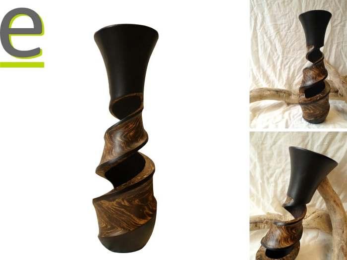 vaso di arredo, vaso di legno