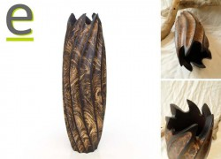 vaso in legno, vaso di legno