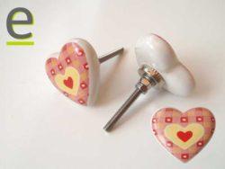 Pomelli a forma di cuore, pomelli cuore, pomoli cuore