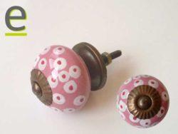 pomelli rosa, pomelli per cucine, pomello mobile, pomelli artistici, pomelli in ceramica