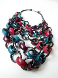 Collana in Legno, collane artigianali