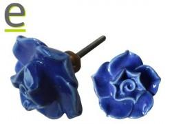 Pomello Rosa Blu, pomello a forma di rosa