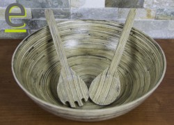 insalatiera, ciotola, ciotola per insalata, zuppiera, ciotola bambù, bambù, legno