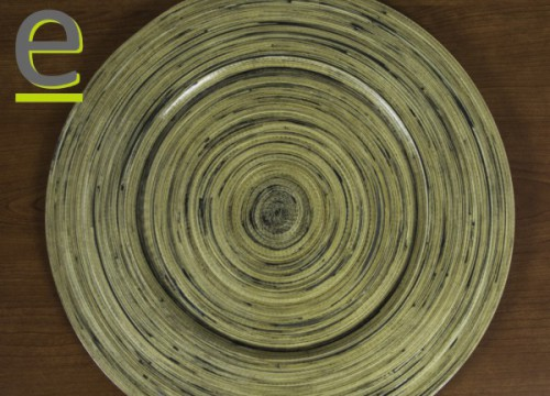 sotto piatto, sottopiatto, vassoio, bambù, legno