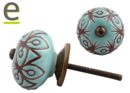 pomelli di ceramica, pomelli per mobili, pomelli decorati, pomelli vintage
