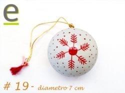 Palline Albero di Natale Bianche e Rosse