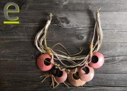 collana di cocco, collana di guscio di noce di cocco