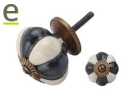 pomelli bianchi e neri, pomelli per mobili, pomelli di ceramica