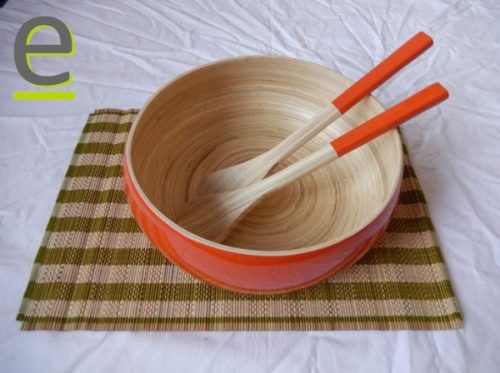 insalatiera, set insalata bambù, bambù, bamboo