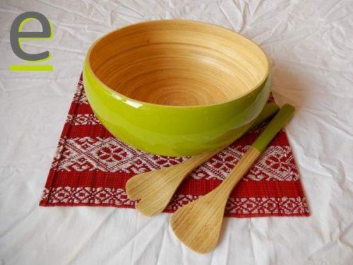 insalatiera bambù, ciotola bambù, insalata, insalatiera